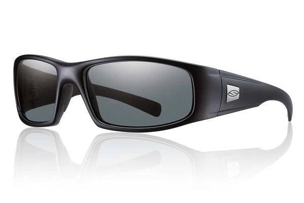 Smith - Hideout Tactical Black Sunglasses, Gray Mil-Spec Lenses