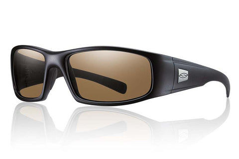 Smith - Hideout Elite Black Tactical Sunglasses, Polarized Brown Lenses