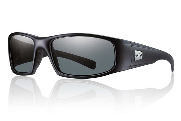 Smith - Hideout Tactical Black Sunglasses, Polarized Gray Mil-Spec Lenses