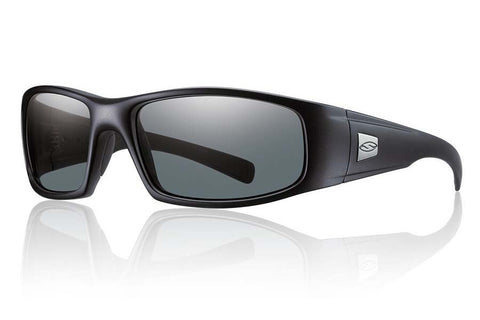 Smith - Hideout Elite Black Tactical Sunglasses, Polarized Gray Lenses