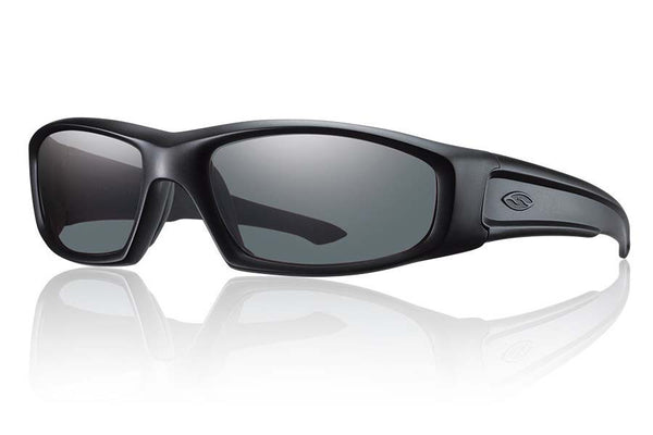 Smith - Hudson Tactical Black Sunglasses, Gray Mil-Spec Lenses