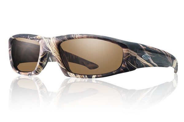 Smith - Hudson Elite Realtree Max 4 Tactical Sunglasses, Polarized Brown Lenses