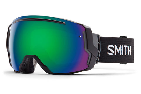 Smith - I/O7 Black Goggles, Green Sol-X Mirror Lenses