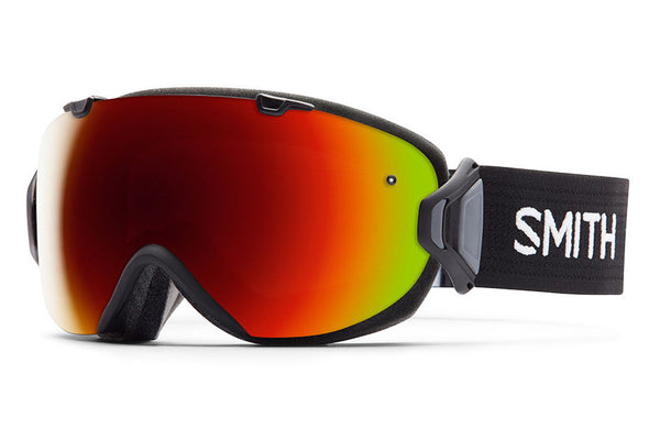 Smith - I/OS Black Goggles, Red Sol-X Mirror Lenses