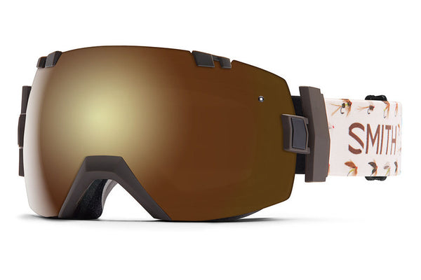 Smith - I/OX Root Fish On Goggles, Gold Sol-X Mirror Lenses