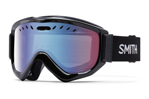 Smith - Knowledge OTG Black Goggles, Blue Sensor Mirror Lenses