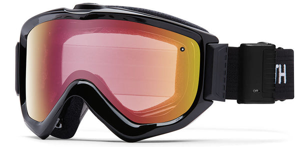 Smith - Knowledge Turbo Fan Black Goggles, Red Sensor Mirror Lenses