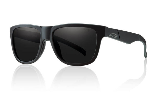 Smith Lowdown Slim Impossibly Black Sunglasses, Blackout Lenses