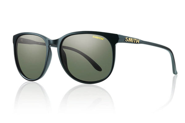 Smith - Mt. Shasta Matte Black Sunglasses, Polarized Gray Green Lenses
