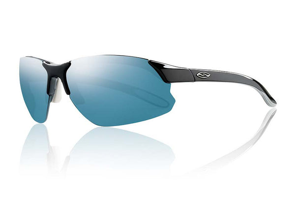 Smith - Parallel D Max Black White Sunglasses, Blue Sol-X Mirror Lenses