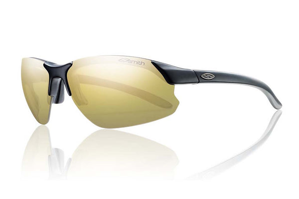 Smith - Parallel D Max Matte Black Sunglasses, Polarized Gold Mirror Lenses