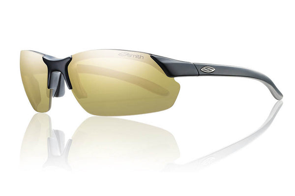 Smith - Parallel Max Matte Black Sunglasses, Polarized Gold Mirror Lenses
