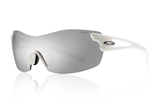 Smith - Pivlock Asana White Sunglasses, Platinum Lenses