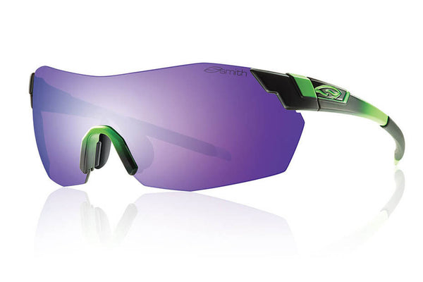 Smith - Pivlock V2 Max Reactor Green Sunglasses, Purple Sol-X Mirror Lenses