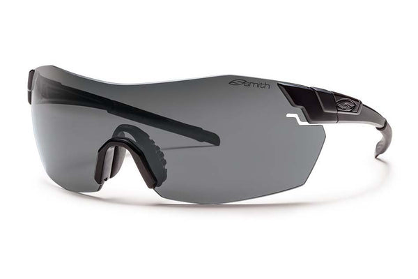 Smith - Pivlock V2 Max Tactical Black Sunglasses, Deluxe Kit - Gray Mil-Spec Installed Lenses