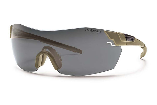 Smith - Pivlock V2 Max Tactical Tan 499 Sunglasses, Deluxe Kit - Gray Mil-Spec Installed Lenses