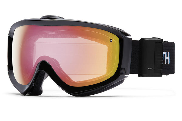 Smith - Prophecy Turbo Fan Black Goggles, Red Sensor Mirror Lenses