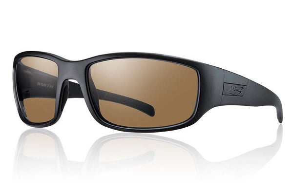 Smith - Prospect Tactical Black Sunglasses, Polarized Brown Mil-Spec Lenses