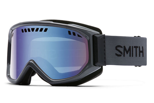 Smith Scope Charcoal Goggles, Blue Sensor Mirror Lenses