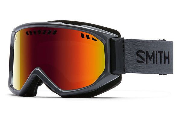 Smith Scope Charcoal Goggles, Red Sol-X Mirror Lenses