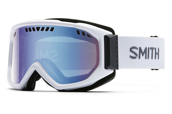 Smith - Scope White Goggles, Blue Sensor Mirror Lenses