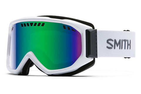 Smith - Scope White Goggles, Green Sol-X Mirror Lenses