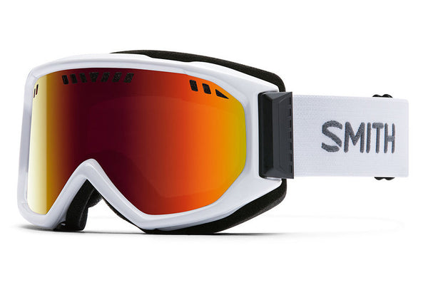 Smith - Scope White Goggles, Red Sol-X Mirror Lenses