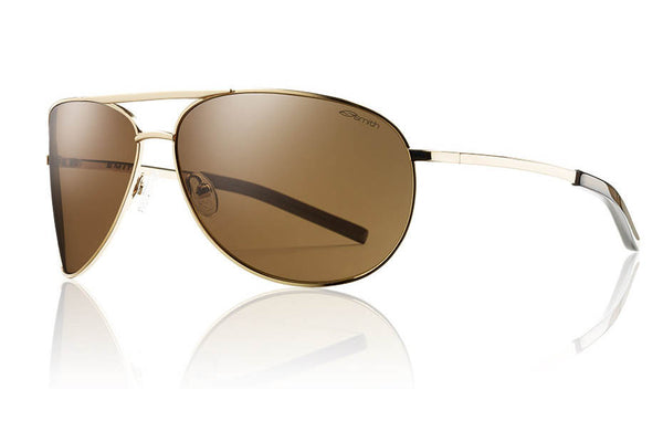 Smith - Serpico Gold Sunglasses, Polarized Brown Lenses