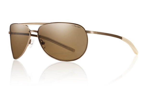 Smith - Serpico Slim Matte Desert Sunglasses, Polarized Brown Lenses