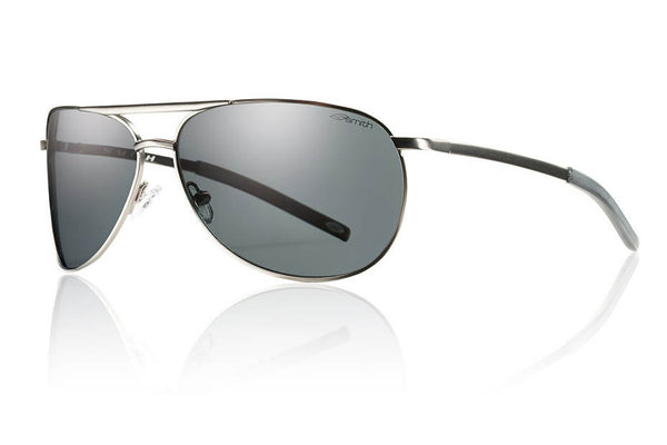 Smith - Serpico Slim Matte Gunmetal Sunglasses, Polarized Gray Lenses