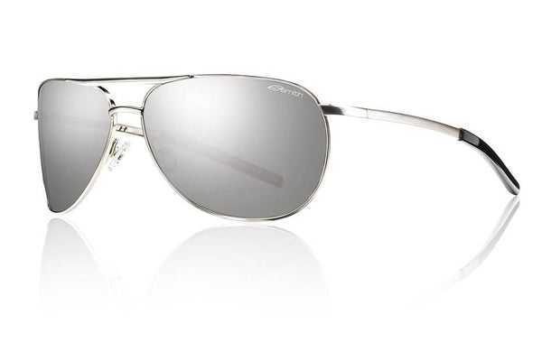 Smith - Serpico Slim Silver Sunglasses, Polarized Platinum Lenses