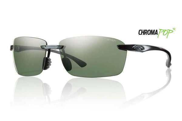 Smith - Trailblazer Black Sunglasses, Chromapop Polarized Gray Green Lenses