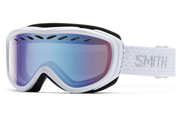 Smith Transit White Goggles, Blue Sensor Mirror Lenses