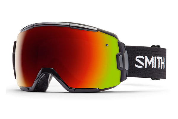 Smith Vice Black Goggles, Red Sol-X Mirror Lenses
