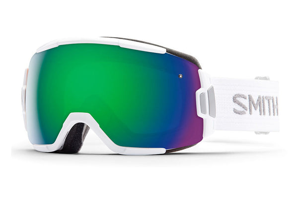 Smith - Vice White Goggles, Green Sol-X Mirror Lenses
