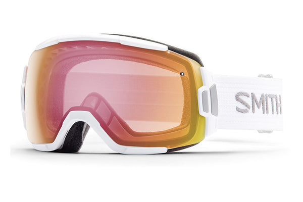 Smith - Vice White Goggles, Red Sensor Mirror Lenses