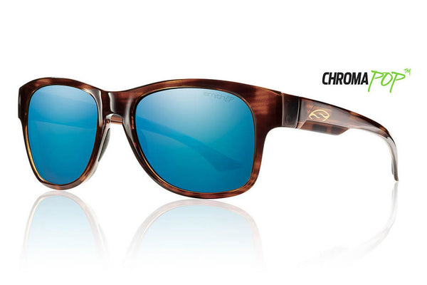 Smith - Wayward Havana Sunglasses, Chromapop Polarized Blue Mirror Lenses