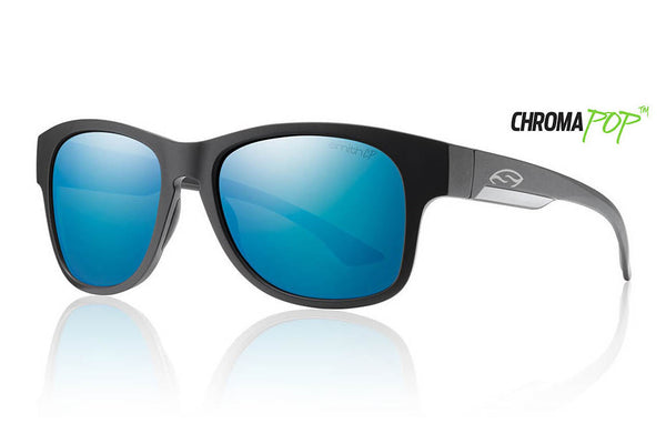 Smith - Wayward Matte Black Sunglasses, Chromapop Polarized Blue Mirror Lenses