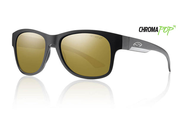 Smith Wayward Matte Black Sunglasses, Chromapop Polarized Bronze Mirror Lenses