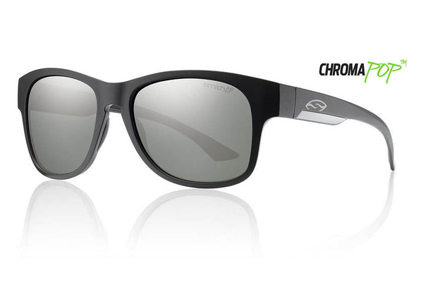 Smith - Wayward Matte Black Sunglasses, Chromapop Polarized Platinum Lenses