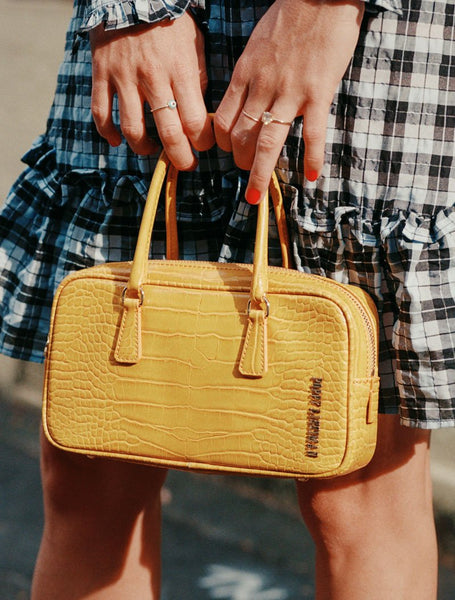Poppy Lissiman - Snapper Yellow Croc Sac