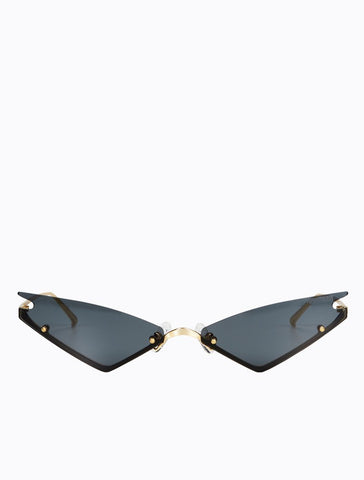 Poppy Lissiman - Speed Limit Gold Sunglasses / Black Lenses
