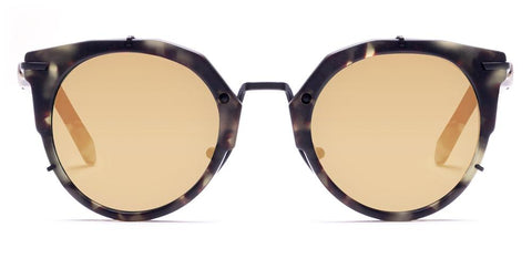 Westward Leaning - Sphinx 10 Matte Tokyo Tortoise Acetate Sunglasses / Super Gold Mirror Lenses