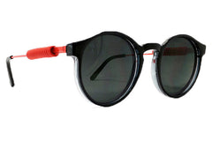 Spitfire - Anorak 3 Black & Orange Metal Sunglasses, Black Lenses