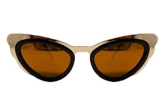 Spitfire - Apex Gold & Brown Sunglasses, Brown Lenses