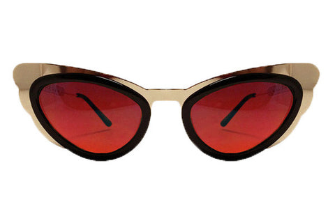 Spitfire - Apex Gold & Brown Sunglasses, Maroon Lenses