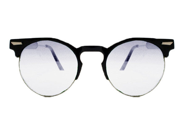 Spitfire - Chill Wave Black Sunglasses, Clear Lenses