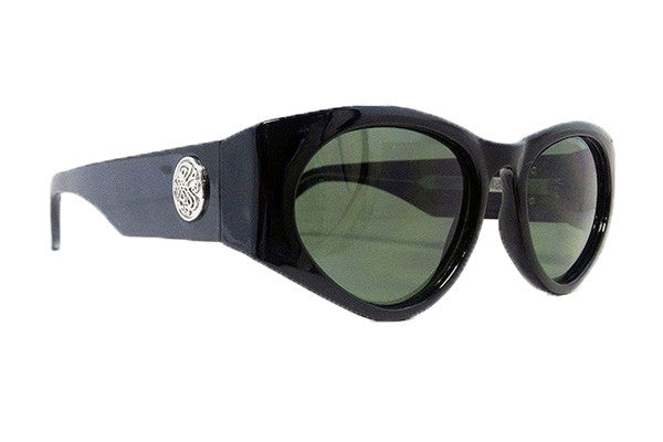 Spitfire - Cobain Black & Gold Metal Sunglasses, Black Lenses
