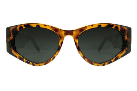 Spitfire - Cobain Tortoise Shell & Gold Metal Sunglasses, Black Lenses