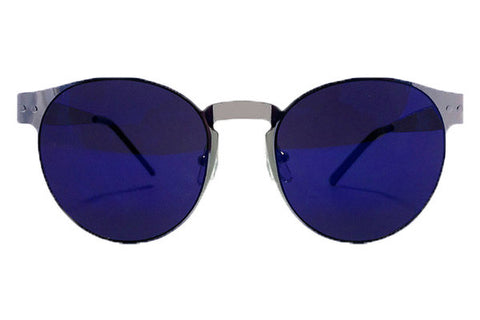 Spitfire - Endomorph Silver Sunglasses, Blue Mirror Lenses